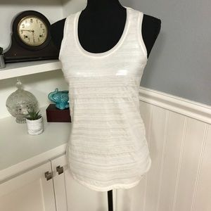NWOT - Ann Taylor - Sequined Cream Tank Top